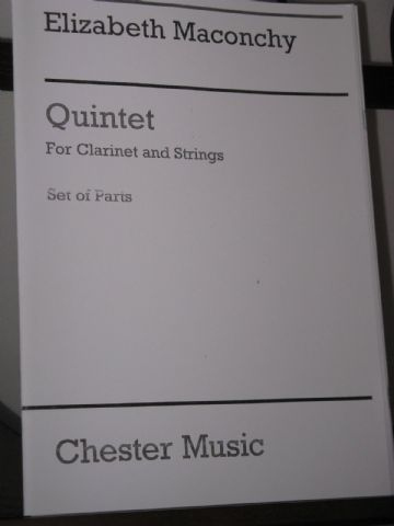 Maconchy E - Quintet for Clarinet & Strings
